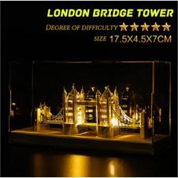 Sí Piececool Notre Dame de París Casa de la Opera de sílice torre de París luz 3D montaje de Metal modelo arquitectónico puzle p