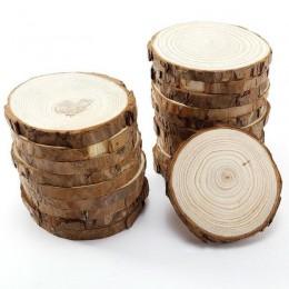 5 uds. Rodajas de madera redondas naturales sin terminar círculos con discos de troncos de corteza de árbol para manualidades DI