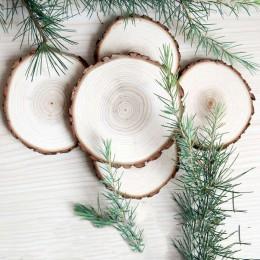 1 pieza de rodajas de madera Natural de gran tamaño Diy decoraciones artesanales para fiesta de cumpleaños niños decoración de p