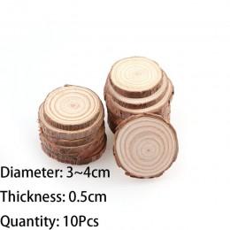 3-12cm de espesor 1 paquete de Rodajas de madera sin terminar de pino Natural círculos con discos de madera de corteza de árbol