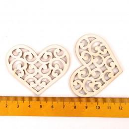 Estampado encantador de corazón de madera de pintura de álbum de recortes de arte accesorio DIY hecho a mano decoración del hoga