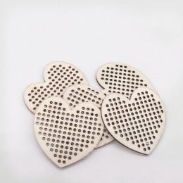 30 Uds. Círculo corazón formas punto de cruz agujero tallado de madera libro de recortes artesanía para adornos hechos a mano Di