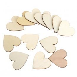 BESTOYARD DIY Corazón en blanco rebanadas de discos de madera corazón amor en blanco artesanía Natural sin terminar suministros