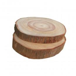 5 uds. Decoración de madera Rodajas de madera redondas naturales círculos con discos de troncos de corteza de árbol para manuali