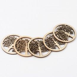 Patrón de árbol Natural álbum de recortes de madera arte colección artesanía para accesorios hechos a mano costura decoración de