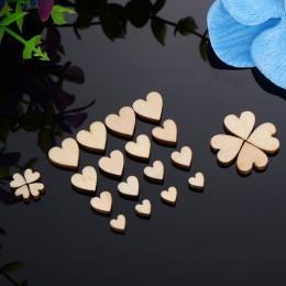 200 Uds. Confeti de corazón de madera para manualidades Favor de la fiesta de la boda decoración de la ducha del bebé DIY Mesa D