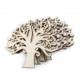 10 Uds. Adorno para árbol de madera en blanco para manualidades DIY adornos para la decoración de la boda del partido (Color de