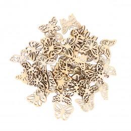 50 Uds. Variadas mariposas de madera huecas DIY recortes para manualidades adornos de madera para decoraciones de boda de arte D