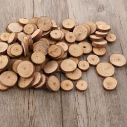 100 Uds 10-30mm madera troncos rebanadas de discos redondo manualidades madera pieza foto Prop decoración hecha a mano para fies