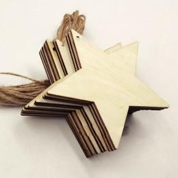 DIY 8cm agujero con colgante de estrella de cinco puntas con chips de cuerda de cáñamo manualidades Scrapbooking suministros hec