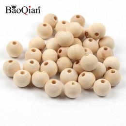 4-50mm cuentas de madera Natural bolas redondas de madera sin plomo para hacer joyería Diy niños espaciador de dentición artesan