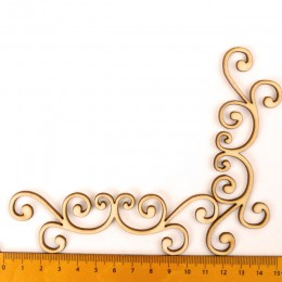 Mezcla de marco de encaje patrón de madera Scrapbooking Craft para accesorios hechos a mano costura decoración del hogar DIY 6 u