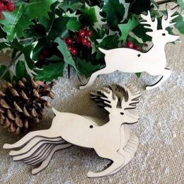 10 Uds. Colgantes colgantes en forma de mezcla de madera ornamentos de árbol de Navidad de madera adorno artesanal DIY para la f