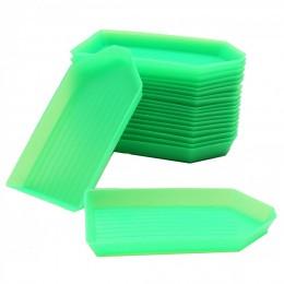 20 piezas DIY herramienta Diamante de imitación caja pequeña recibir bandeja de plástico/placa para arte de uñas/belleza móvil/C