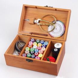 Con cerradura CAJA DE COSER portátil para utensilios con agujas de cocina acolchado hilo de costura bordado kit de costura artes