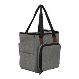 Bolsa de tejer bolsa de almacenamiento portátil de hilo para ganchillo gancho tejer agujas de coser conjunto DIY organizador del