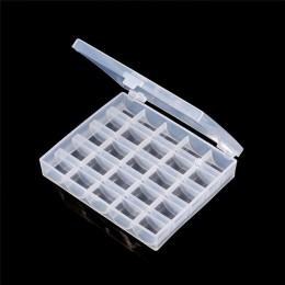 Caja de costura 25 costura de bobinas de carretes de plástico para el hogar hecho a mano accesorios herramientas de costura orga