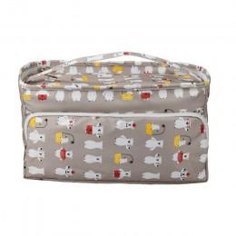 KOKNIT 12 estilos bolsa de tejer organizador bolsa de almacenamiento de hilo para tejer agujas de tejer bolso de mano para las m