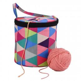 1 Uds bolso de diario en casa bolsa de almacenamiento a ganchillo de hilo de lana aguja de coser bolso herramienta para tejer bo
