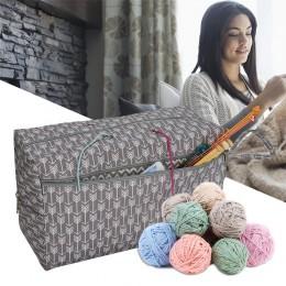 Organizador de bolsas de almacenamiento de hilo con divisor para la organización de tejer croché. Bolsa Portable de hilo para vi