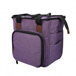 Bolsa de tejer portátil bolsas de almacenamiento de ganchillo de lana agujas de coser organizador bolso DIY bolsa de colección d