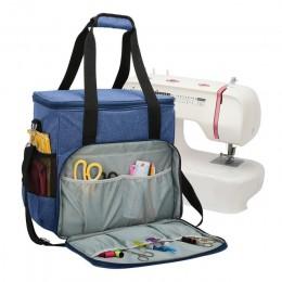 1 piezas de máquina de coser cubierta de polvo con 3 bolsillos de la máquina de coser bolsa de almacenamiento de accesorios