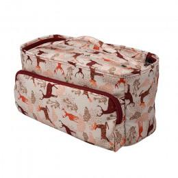 Bolsa de tejer KOKNIT organizador de hilo bolsa de malla para almacenamiento bolsa de almacenamiento para gancho de ganchillo ag
