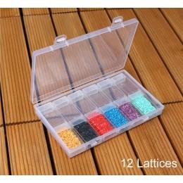 42/64 caja de almacenamiento de múltiples celdas para DIY pintura de diamantes bordado a mano cuentas de joyería para coser boto