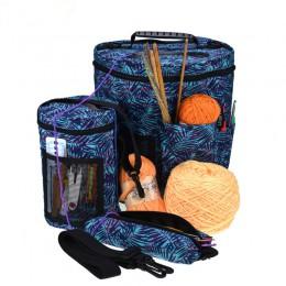 Organizador de hilo Crochet bolsas Crochet accesorio para tejer vacío bolsa de almacenamiento para lanas aguja para Jersey herra