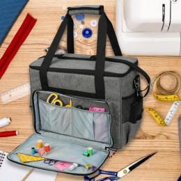 Oxford máquina de coser tela bolsa de almacenamiento gran capacidad coser bolso para herramientas Oxford tela uso doméstico surt