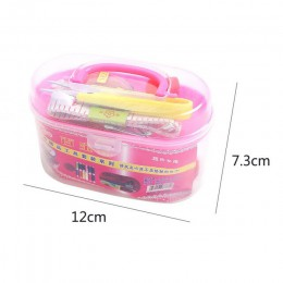 1 Juego de accesorios de tejido de punto caja de costura multifunción de plástico de sutura de mano Reparación de traje de punto