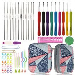 DIY juego de ganchos de ganchillo Kit de agujas de tejer con asas ergonómicas extrema comodidad Diy hecho a mano aguja de tejer
