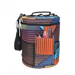 Bolsa de almacenamiento de lana bolso de ganchillo grande hogar de lana tejida bolsa accesorios de costura suministros de almace
