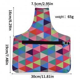 crochet para tejer  agulha de croche Bolsa de almacenamiento de lana DIY para mujer, bolsa de almacenamiento de mano para ganchi