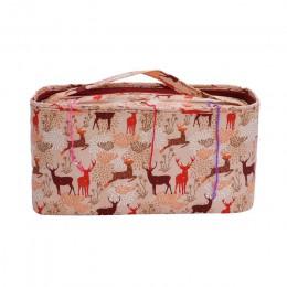 Looen cuadrado vacío bolsa de almacenamiento 6 estilos Hilados de tejer bolsa para DIY artes y manualidades con agujas titular b