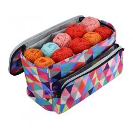 Bolsa de almacenamiento para lanas portátil organizador con divisor para tejer ganchillo organización Portable hilo titular Tote