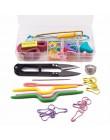 Útil Kit de herramientas para tejer agujas de ganchillo accesorios para tejer DIY suministros para tejer con estuche para niños