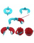 Recién 8 Uds. Kit de fabricación de Pompón, artesanías de punto de diferentes tamaños, herramienta de fabricación de bolas de fe