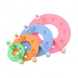 4 unids/set DIY aguja manualidades pompón fabricante tejer telar Kit Fluff bola tejer herramientas portátiles 4 tamaños de plást