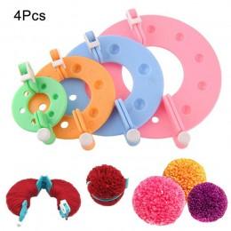 8 Uds., Kit multifuncional para hacer Pompón, herramientas para hacer bolas de felpa de diferentes tamaños @ LS AU02