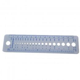 1 Uds. De plástico DIY tejer aguja para Jersey regla herramientas y accesorios de coser pulgadas cm coser aguja tejer regla herr