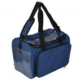 Kooknitting bolsa de tejer hilo organizador con divisor interno para lana ganchillo gancho tejer agujas de coser conjunto DIY bo