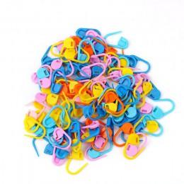 100 Uds. Que hacen punto mezcla de colores artesanía ganchillo punto de bloqueo aguja Clip juguetes tejidos Herramienta de tejer