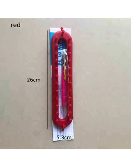 Telar de punto portátil artesanía tejido DIY herramientas para calcetines bufanda sombrero tejedor aguja herramienta de tejer ac