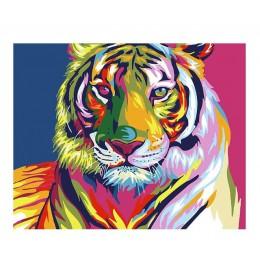 Cuadro abstracto MURAN pintura al óleo DIY pintura por números colorear por números animales coloridos decoración del hogar 40X5