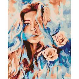 HUACAN imágenes por números flor niña DIY pintura al óleo por números decoración para el hogar pintada a mano Kits dibujo figura
