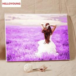 Flores mar DIY pintado a mano pintura al óleo digital pintura por números de pinturas en pergamino chinas de la decoración del h