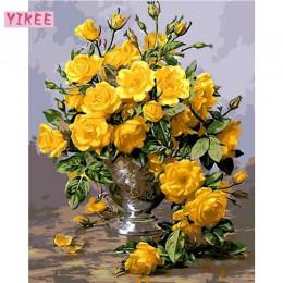 Pintura de colores por números, imagen para la decoración del salón, lienzo pintura por números flores
