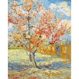 Pintura de AZQSD por números DIY pintura al óleo moderna pintura de la mano del árbol cuadro de lienzo decoración del hogar arte