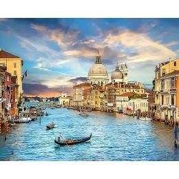 HUACAN DIY pintura al óleo por números kits de paisajes de Venecia dibujo lienzo pintado a mano regalo cuadros paisaje de ciudad